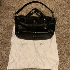 Michael Kors Astor Black Studded Leather Bag